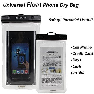 Dalanzom Universal Float Waterproof Cell Phone Case Dry Bag Pouch (With Armband,Lanyard) for iPhone 6,6S,6 Plus,6S Plus,