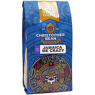 Christopher Bean Coffee Decaffeinated Whole Bean Flavored Coffee, Jamaica Me Crazy, 12 Ounce