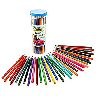 Colored Pencils for Kids by ColorSwift, 50 Premium Assorted Colors with Unique Vivid Earth Tones