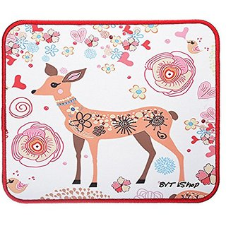 BYT Shop Gaming Mouse Pad Non-Slip Rubber MousePad Medium Size (11.8 x 9.8 x 0.1in)(Deer)