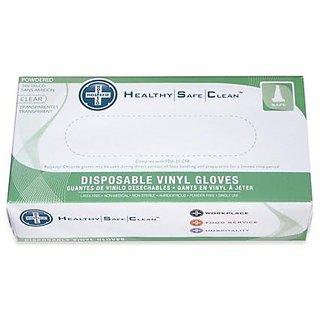 Hospeco ProWorks GL-V103PX Industrial Grade Vinyl Glove, Powdered, Disposable, 9
