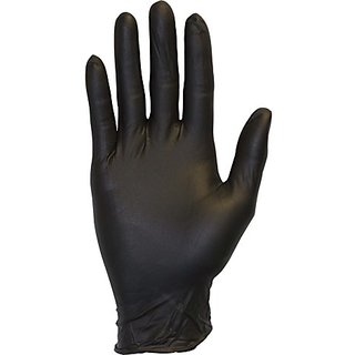 Black Nitrile Exam Gloves - Medical Grade, Disposable, Powder Free, Latex Rubber Free, Heavy Duty, Textured, Non Sterile