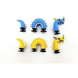 3D shoe charms X2 Dragon dinosaur for croc shoes & bracelet wristband