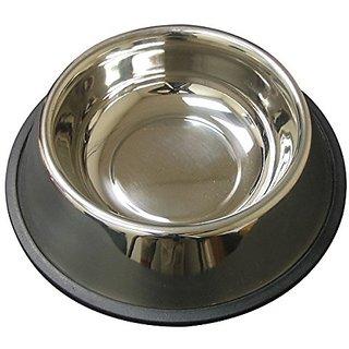 QT Dog Non-Tip Anti-Skid Stainless Steel Bowl, 2 quart