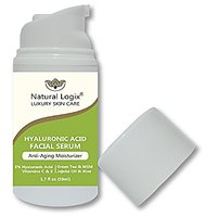 Natural Logix Hyaluronic Acid Anti-Aging Serum With Vitamins C+E - Intense Hydration + Moisturizer, Activates Collagen P