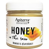 Apiterra 100% Pure, Raw And Unfiltered Honey - 8 Ounce, 4 Count