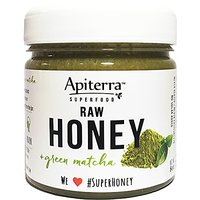 Apiterra Raw Honey With Green Matcha - 8 Ounce, 4 Count