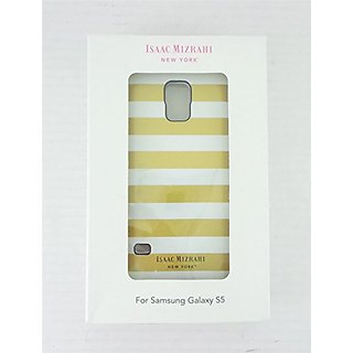 Isaac Mizrahi New York Case For Samsung Galaxy S5 Gold/White CO8908