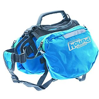 Outward Hound Kyjen 22013 Quick Release Backpack Saddlebag Style Dog Backpack, Extra Large, Blue