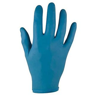 Ansell 92-575-L TNT Single-Use Gloves, Powdered, Nitrile, 5 mil, Large, Blue