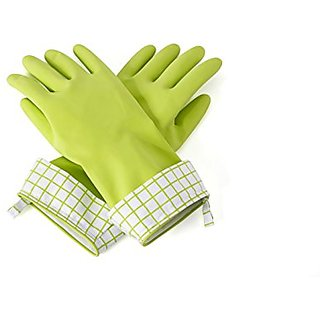 Full Circle Splash Patrol Natural Latex Cleaning & Dish Gloves, Green