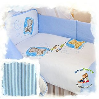 2 pcs BABY COT BED BUNDLE BEDDING SET DUVET+PILLOW COVERS matching cot bed 120 x 150 cm (47