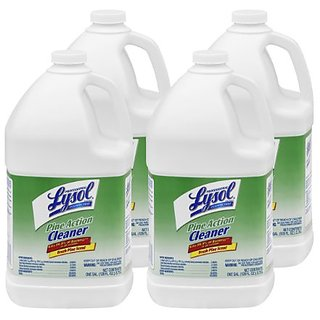 Professional Lysol Pine Action Cleaner Concentrate, 1 Gallon (Case of 4)