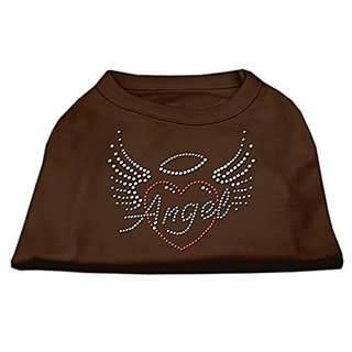 Mirage Pet Products Angel Heart Rhinestone Dog Shirt, Large, Brown