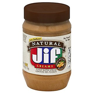 Jif Natural Creamy Peanut Butter Spread, 40 Ounce (Pack of 8)