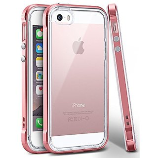 iPhone SE Case, Ansiwee Reinforced PC Frame & Highly Durable Crystal Slim Shock-Absorption Flexible Soft Rubber TPU Bump
