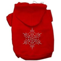 Mirage Pet Products 10-Inch Snowflake Hoodies, Small, Red