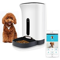 HOOHI Pet Supplies Smart Automatic Pet Feeder Food Dispenser For Dogs & Cats With 1 Mega Pixels HD Camera, Remote Video