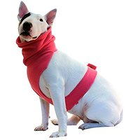 The Doggy Dickey Fleece Neck And Chest Warmer For Small Dogs, X-Small, Pink