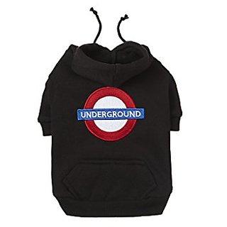 Fab Dog Underground Dog Hoodie, Black, 16 Length