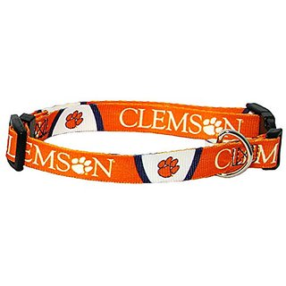 Clemson Tigers X-Small Adjustable Dog/Cat Collar (X-Small)