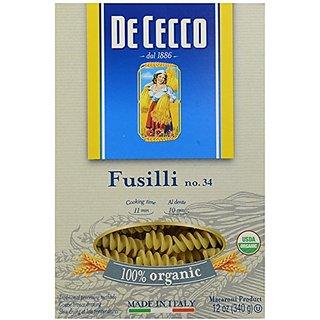 De Cecco Pasta Organic Fusilli Pasta, 12 oz