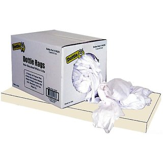 L.H. Dottie RGZ5 Wiping Rags, White, 5-Pound Bag White