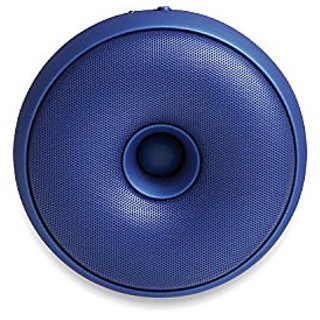 Lexon HOOP portable, rechargeable Bluetooth speaker in a Metallic Blue Finish