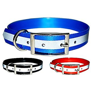 New Reflective Dark Dog Collar, Strong TPU Safety Collar, Suitable for Dogs or Cats, Color Blue, Size Large, By Downtown
