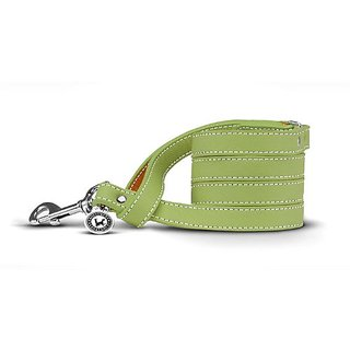 Legitimutt Italian Smooth Leather Dog Leash, 48-3/4-Inch, Key Lime
