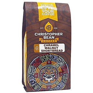 Christopher Bean Coffee Flavored Whole Bean Coffee, Caramel Walnut Shortbread, 12 Ounce