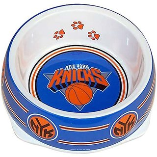 Sporty K9 NBA New York Knicks Pet Bowl, Large