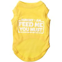 Mirage Pet Products Hungry I Am Screen Print Shirt Yellow Sm (10)