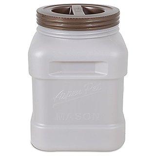 Petmate Aspen Pet Mason Food Storage Jar, Smoke Bin/Bronze Lid, 40 lb