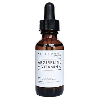 Argireline + Vitamin C Serum With Organic Hyaluronic Acid 1 Oz - Anti Aging, Anti Wrinkle - Face Moisturizer Dry Skin &