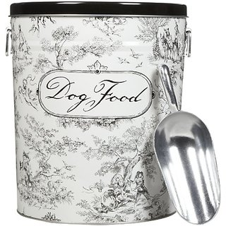 Harry Barker Toile Dog Food Storage Canister - Black - Small