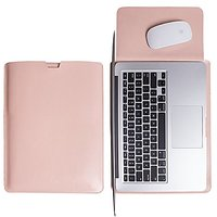 WALNEW Sleek Leather 15 MacBook Pro Retina 15.4-Inch Protective Soft Sleeve Case Cover Bag With Safe Interior And Exteri