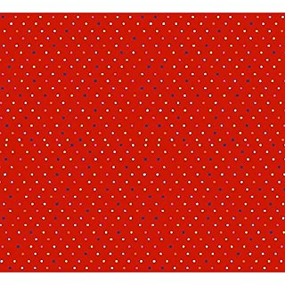 SheetWorld PC5B-w703 PC5B-w703 Fitted Portable / Mini Crib Sheet - Primary Colorful Pindots Red Woven - Made In USA