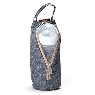 Gitta Baby Travel Thermal Bottle Holder Keep Worm / Cold Cover, Blue Denim