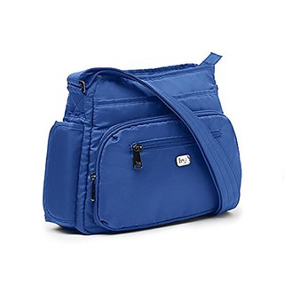 Lug Shimmy Cross-Body Bag, Cobalt Blue
