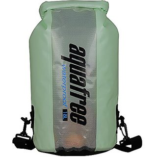 Aquafree dry bag, 18L green Waterproof bag with Window of PVC Film