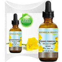 EVENING PRIMROSE OIL. 100% Pure / Natural / Undiluted / Refined / Cold Pressed Carrier Oil. 1 Fl.oz.- 30 Ml. Rich Antiox