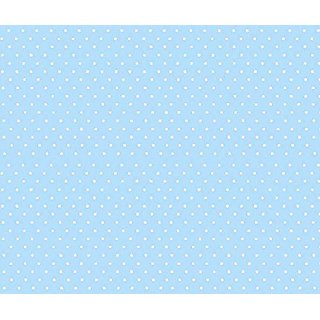 SheetWorld Fitted Pack N Play (Graco) Sheet - Pastel Blue Pindots Woven - Made In USA