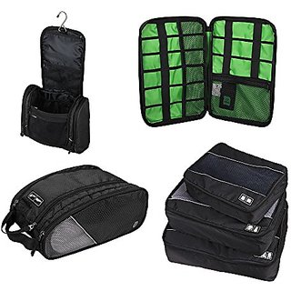 Lightweight Travel Packing Cubes Set, Organizer System for Carry-On luggage, Suitcases, & Backpacks