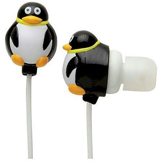 Hog Wild Zoo Ear Buds - Penguin