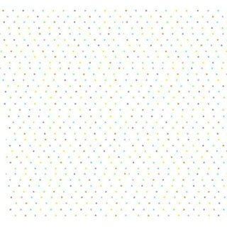 SheetWorld Fitted Crib / Toddler Sheet - Pastel Colorful Pindots Woven - Made In USA