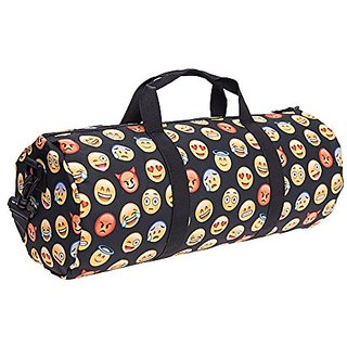 ERUPT Design Travel Duffle Bag Training Gym Sport Bag Holdall - Emoji Black
