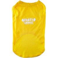 Mirage Pet Products Party Animal Screen Print Shirt Yellow XXXL (20)