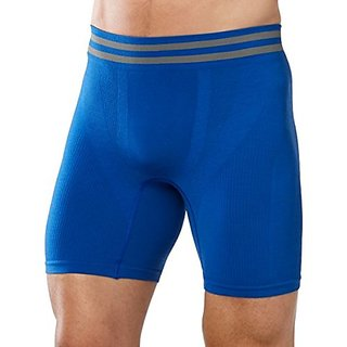 Smartwool Mens Seamless Boxer Briefs Bright Blue Boxer Briefs MD