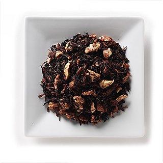 Mahamosa Peach Melba Tea 2 oz, Herbal Fruit Tea Blend Loose Leaf (Looseleaf) (Peaches, hibiscus, apple bits, elderberrie